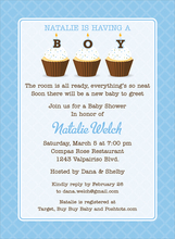 Product Image For Cupcake Boy Invitation