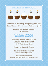Product Image For Cupcake Twins Boy Invitation