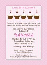 Product Image For Cupcake Twins Girl Invitation