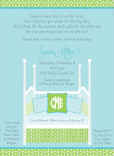 Product Image For Four Post Crib Blue & Green Invitation