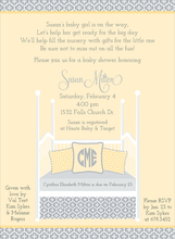 Product Image For Four Post Crib Buttercup & Silver Invitation