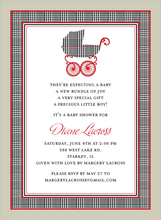 Product Image For Prince of Wales Pram Invitation