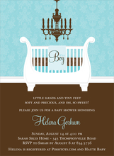 Product Image For Sleigh Crib Bali & Chocolate Invitation