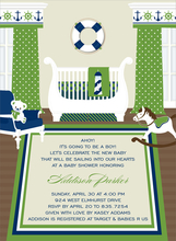 Product Image For Sweet Nursery Nautical Invitation