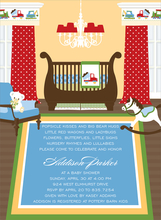 Product Image For Transportation Theme Nursery Invitation