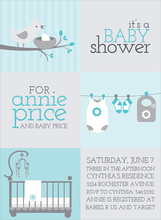 Product Image For 3 X 2 Blocks Baby Shower Blue Invitation