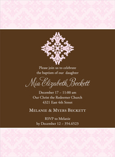 Product Image For First Sacrament Pink Invitation