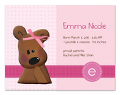 Product Image For Cuddly Teddy Bear (Pink) Invitation