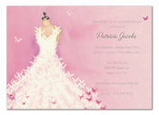 Product Image For Butterfly Dress Invitation