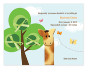 Product Image For My Cute Giraffe Invitation
