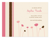 Product Image For Field of Tulips Invitation