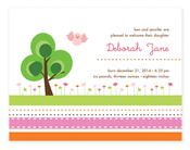 Product Image For Pink Garden Invitation