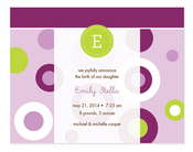 Product Image For Purple Modern Circles Invitation