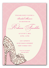 Product Image For Stunning Shoe Invitation