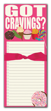 Product Image For Got Cravings? Magnetic Note Pad