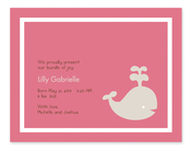 Product Image For Baby Whale Playing (Pink) Invitation