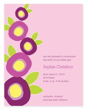 Product Image For Mod Flowers (Purple) Invitation