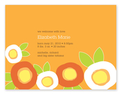 Product Image For Mod Flowers (Orange) Invitation