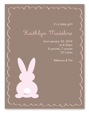 Product Image For Little Bunny (Mocha) Invitation