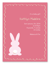 Product Image For Little Bunny (Pink) Invitation