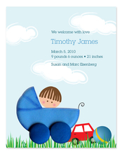 Product Image For Boy in a Stroller Invitation
