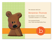 Product Image For Cuddly Teddy Bear (Orange) Invitation