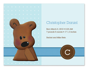 Product Image For Cuddly Teddy Bear (Blue) Invitation