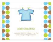 Product Image For Blue Shirt and Dots (Green) Invitation