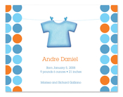 Product Image For Blue Shirt and Dots (Blue) Invitation