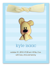 Product Image For Cute Teddy Bear (Blue) Invitation