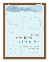 Product Image For Mod Circles and Ribbon Invitation