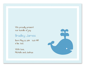 Product Image For Baby Whale Playing Invitation