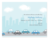 Product Image For Cars Driving by the City Invitation