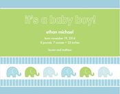 Product Image For Elephants in a Row Invitation