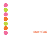 Product Image For Happy Dots in Orange Note Card