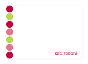 Product Image For Happy Dots in Pink Note Card