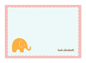 Product Image For My Little Elephant (Pink) Note Card
