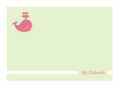Product Image For My Playful Whale (Pale Green) Note Card