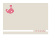 Product Image For My Playful Whale (Pink) Note Card