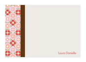 Product Image For Flowers Checkerboard Note Card