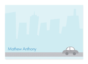 Product Image For Driving by the City Note Card