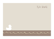 Product Image For Little Duckie Swimming Note Card