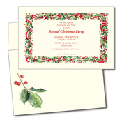 Product Image For Holly Garland invitation