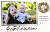 Product Image For Woodland Wreath Photo Flat Card
