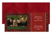 Product Image For Red and Black Holiday Digital Photo Card