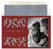 Product Image For Red Seasons Greetings fold over Card