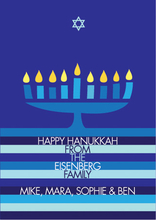 Product Image For Hanukkah Menorah and Star Invitation