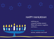 Product Image For Hanukkah Menorah Invitation