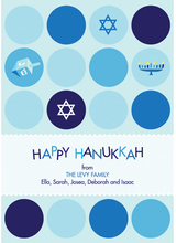 Product Image For Hanukkah Polka Dots Invitation