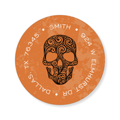 Product Image For Spidery Skull Flame Label
